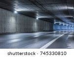 Highway Tunnel. Interior Of An...