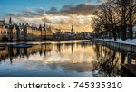 binnenhof palace in the hague ... | Shutterstock . vector #745335310