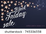 black friday sale banner... | Shutterstock .eps vector #745336558