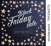 black friday sale banner... | Shutterstock .eps vector #745336573