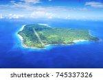 Angaur Island landing strip areal view, Palau, Battle of Peleliu, Palau 1944, fought between the US and Japan in World War II