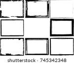 vector frames. rectangles for... | Shutterstock .eps vector #745342348