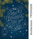 it'sthe most wonderful time of... | Shutterstock .eps vector #745342630