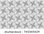 seamless pattern with black and ... | Shutterstock .eps vector #745345429
