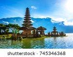 pura ulun danu bratan temple in ...   Shutterstock . vector #745346368