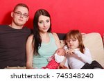 adult and child relationship... | Shutterstock . vector #745348240
