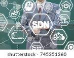 sdn   software defined... | Shutterstock . vector #745351360