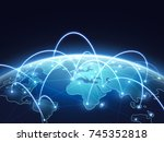 abstract network vector concept ... | Shutterstock .eps vector #745352818