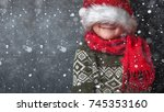 happy xmas and new year.... | Shutterstock . vector #745353160