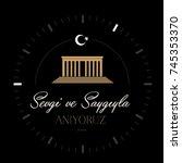 november 10    ataturk death... | Shutterstock .eps vector #745353370