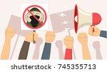 demonstration against fur...   Shutterstock .eps vector #745355713