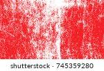red paint splattered watercolor.... | Shutterstock .eps vector #745359280