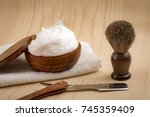male cosmetic products and...   Shutterstock . vector #745359409