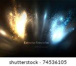 eps10 vector extreme fireworks | Shutterstock .eps vector #74536105