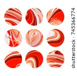 abstract painting circles with... | Shutterstock . vector #745366774