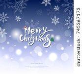 christmas illustration | Shutterstock .eps vector #745367173
