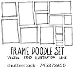 set of frame illustration hand... | Shutterstock .eps vector #745373650