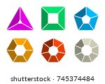 infographic template for... | Shutterstock .eps vector #745374484