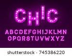 broadway style retro light bulb ...   Shutterstock .eps vector #745386220