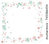 square christmas border or... | Shutterstock .eps vector #745386454