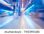 industrial technological blurry ... | Shutterstock . vector #745390180
