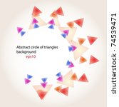 triangles background. ready for ... | Shutterstock .eps vector #74539471