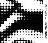 abstract grunge grid polka dot... | Shutterstock .eps vector #745398340