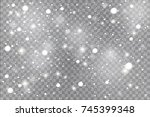 winter with snow in transparent ... | Shutterstock .eps vector #745399348