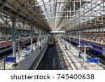 manchester  great britain  ... | Shutterstock . vector #745400638