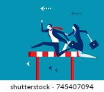 competition. business people... | Shutterstock .eps vector #745407094