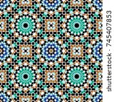 morocco seamless pattern.... | Shutterstock .eps vector #745407853
