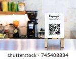 qr code payment   online... | Shutterstock . vector #745408834