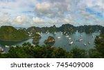 aerial panorama of tourist... | Shutterstock . vector #745409008