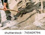 industrial worker wearing... | Shutterstock . vector #745409794
