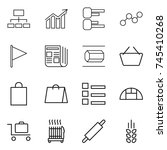 thin line icon set   hierarchy  ... | Shutterstock .eps vector #745410268