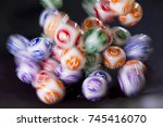 colourful lottery balls in a... | Shutterstock . vector #745416070