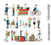 vector illustration of postal... | Shutterstock .eps vector #745416508
