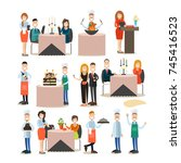 vector illustration of... | Shutterstock .eps vector #745416523
