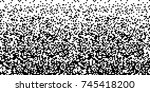 pixel abstract technology... | Shutterstock .eps vector #745418200