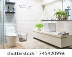 Modern Spacious Bathroom With...