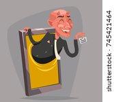 evil devil businessman demon... | Shutterstock .eps vector #745421464