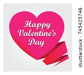 valentines day card | Shutterstock . vector #745425748