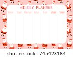 cute christmas and holiday... | Shutterstock .eps vector #745428184