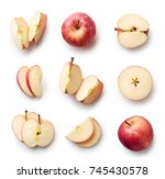 set of fresh whole and cut... | Shutterstock . vector #745430578