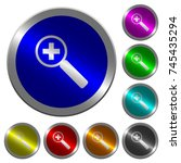 zoom in icons on round luminous ...   Shutterstock .eps vector #745435294