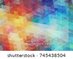 bright triangle background | Shutterstock .eps vector #745438504