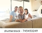 happy family  | Shutterstock . vector #745453249