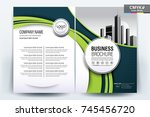 front and back cover of a... | Shutterstock .eps vector #745456720