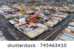 aerial elevated view of... | Shutterstock . vector #745463410