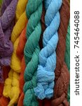 Small photo of huge amount of dyed cotton plait